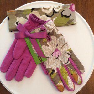 Vera Bradley Glove and Headband Set